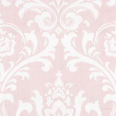 Pink Osborne Damask Fabric Sold by the Yard #carouseldesigns