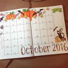 Creative Organization: October Bullet journal monthly spread. Bujo layout ideas. Planner inspiration. #bujoart #octoberspreads