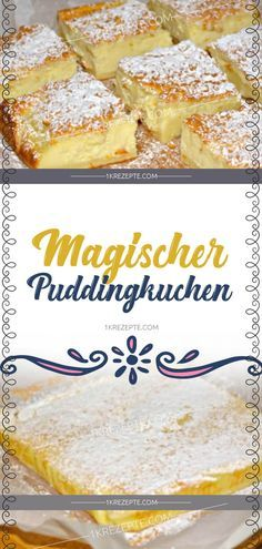 Magic pudding cake- Magischer Puddingkuchen Ingredients for 115 g butter 480 ml milk 4 eggs, separated … - Easy Smoothie Recipes, Easy Cake Recipes, Cookie Recipes, Dessert Recipes, Cheesecake Recipes, Pudding Recipes, Cakes Originales, New Cake, Pudding Cake