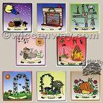 Complete Sabbat Altar Tile Set - WiccanWay.com Witchcraft Supplies