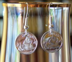 Eating Panda Silver Dangle Earrings by gr8byz on Etsy, $15.00
