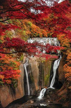 Beautiful days by Janiar Putra on 500px - Autumn at Fukuroda Falls, Ibaraki, Japan