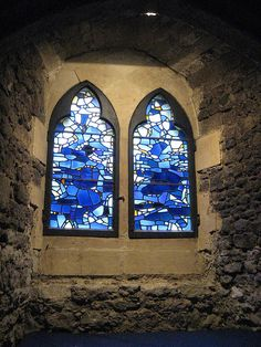Windows in St. Etheldreda's church crypt by litlnemo, via Flickr