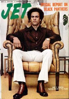 sevenblunts:    Huey P. Newton. Jet cover. 1972.