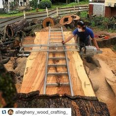 Congrats we re halfway done i bet felt about the same way when he was halfway through slabbing this log awesome stuff finish strong humpday bigwood fixthisbuildthat de fixthisbuildthat