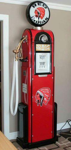 Restored Original Red Indian Wayne - 60 Gas Pump