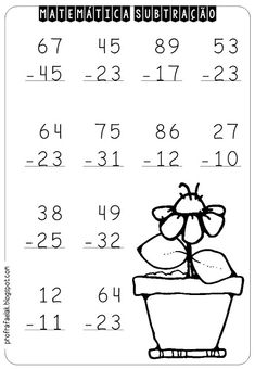 Addition And Subtraction Worksheets, Math Subtraction, Kindergarten Math Worksheets, Worksheets For Kids, Maths, Fourth Grade Writing, Math Sheets, Numbers Kindergarten, First Grade Classroom