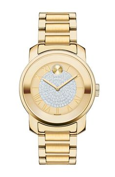 Free shipping and returns on Movado 'Bold' Crystal Dial Bracelet Watch, 32mm at Nordstrom.com. Glittering crystals pave the center of a glamorous bracelet watch complete with recessed Roman numeral indexes and a signature Museum dot at 12 o'clock.