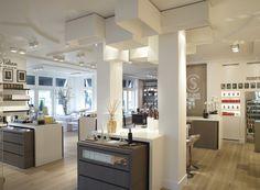 Retail Interior, Vanity, Cosmetics, Mirror, Lighting, Inspiration, Furniture, Home Decor, Dressing Tables