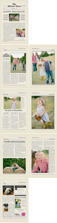 Christmas Photo Newsletter Template  Christmas Newsletter