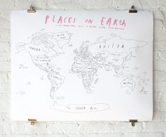 World Map with Pins: Remodelista