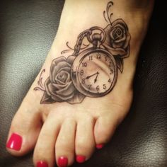 flower clock tattoo | By: Joyce Filed Under: Tattoos Tagged With: