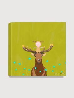 Antonia Press  Deer Canvas Print