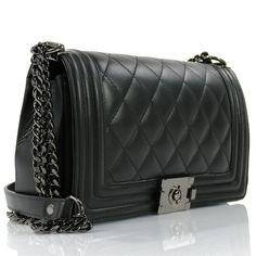 Ώμου : Passaggio Leather Bag Καπιτονέ Τσάντα Από Γνήσιο Δέρμα Handmade In Italy Medium Size Chanel Boy Bag, Shoulder Bag, Boys, Fashion, Baby Boys, Moda, La Mode, Fasion, Sons