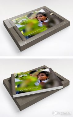 @graphistudio Go Book for DreamArt Photography Weddings Memories. #DreamArtPhotography #DreamArtWedding #WeddingAlbum #GraphiStudio #GoBook #MadeInItaly #LuxuryBook Book Size 35 x 25 cm. 30 pages. Box Outside Smoke gray. Cream Ribbon.