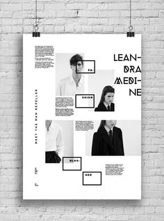 Great design, love the different sections. Informative Poster System by Marina Zertuche