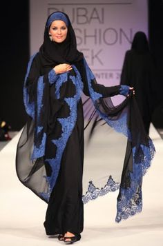 My Hijab And my Fashion: Black abayas of Dubai Fashion Week