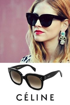 a40002d452 Celine CL New Audrey Sunglasses at VisionDirect ✓Free Delivery ✓Best Price  Guarantee Year Warranty