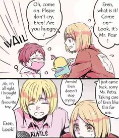 Petra trying to take care of Eren but...