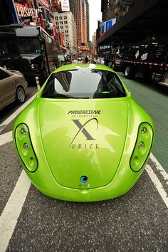 ELECTRIC CARS PARADE IN TIMES SQUARE  /  Earth Day  2011  -   Times square, Manhattan NYC  -   04/22/11 by asterix611, via Flickr