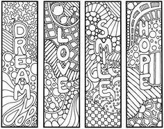 Printable bookmarks to colorgreat to give students on the first
