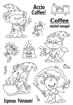 Cute Coloring Pages, Coloring Sheets, Diy Album Photo, Cheap Stamps, Tampons Transparents, Doodles, Mini Cross Stitch, Ink Stamps, Cute Images