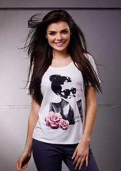 T-shirt with lovely print/ T-shirt z uroczym ndrukiem