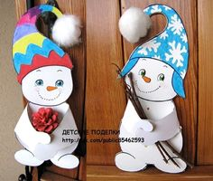 ДЕТСКИЕ ПОДЕЛКИ Winter Thema, Winter Bulletin Boards, Footprint Art, Toddler Crafts, Xmas Cards, Colour Images, Xmas Decorations, Disney Characters, Fictional Characters