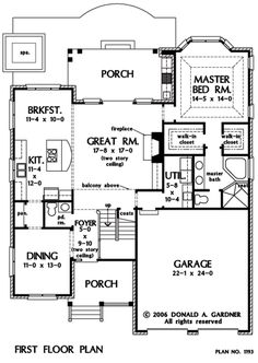 Randell 30-395 - 4 Bedroom Victorian House Plan from Associated ...