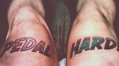 Bicycle tattoos are crazy! See these bike riders tattoos and get ideas of what not to do.