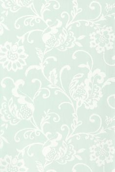 Hatton #wallpaper in #aqua from the Shangri-La collection. #Thibaut