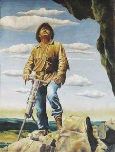 Au son du Marteau-Piqueur  - Significations & Interprétations Rêves - Tableau ©Korczak Ziółkowski - 1908-1982 1, Painting, Everything, Dream Interpretation, Tools, Board, Painting Art, Paintings, Painted Canvas
