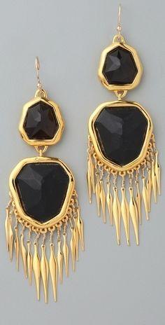 large-smoky-quartz-onyx-fringed/earrings
