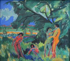 Ernst Ludwig Kirchner - Naked people playing 1910