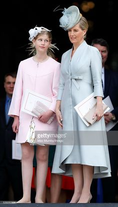 Lady Louise Windsor and Sophie, Countess of Wessex attend a national service of thanksgiving to mark Queen Elizabeth II's 90th birthday at St Paul's Cathedral on June 10, 2016 in London, England.
