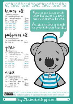 Patron Amigurumi De Koala : 1000+ images about Amigurumis patrones en espanol on ...