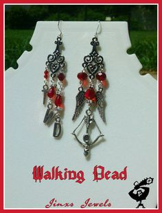 Check out this item in my Etsy shop https://www.etsy.com/listing/237199317/walking-dead-inspired-earrings