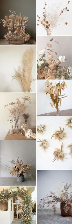 dried florals for fall. More from my site Fall Floral Arrangement Lovely Santa Ynez Wedding at Lincourt Vineyards Wild Fall Flower Arrangement Aisle Decoration Floral Wedding, Fall Wedding, Wedding Flowers, Dried Flower Arrangements, Dried Flowers, Fall Inspiration, Pot Pourri, Flower Installation, Wedding Flower Decorations