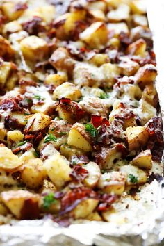 These Roasted Italian Red Potatoes with Asiago Cheese are so flavorful and make for a wonderful and simple side dish! They were a hit with my whole family!
