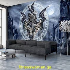 us female fitness models Goth Wallpaper, Angel Wallpaper, Wallpaper Roll, How To Apply Wallpaper, Alchemy, Photo Mural, Dark Interiors, High Quality Wallpapers, Textured Walls