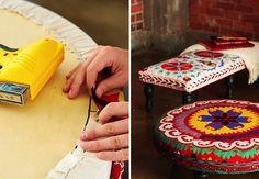 Five DIY ottoman ideas