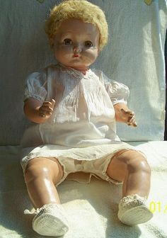 Antique EFFANBEE SWEETIE PIE Composition & Cloth Doll from 1930's