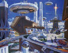 From the lost Disney ride, Horizons. I should do a retro future board.