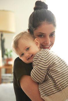 At home with Ana Lerario-Geller & Luna | so inspiring mother child portraits via theglow.com
