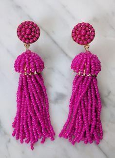 Taffy Beaded Tassel Earrings