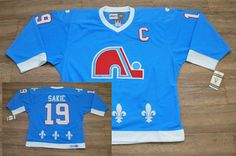 NHL Quebec Nordiques  19 Joe Sakic Light Blue C Patch Heritage Hockey  Jerseys Throwback Jersey 0c53f0469