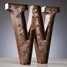 """Rustic 24"""" Letter W Marquee Light from The Rusty Marquee"""