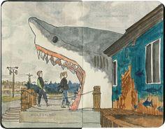 Chandler O'Leary: Om nom nom. Sharky's, Ocean Shores, WA.