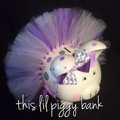 Custom Listing for Judy 3 Piggy Banks Charlotte's piggy pink and mint green, details per convo. Laurel Lou's piggy hot pink and grey, details per convo. Emmy Rose's piggy fuchsia and mint green, details per Thank you. Pink Grey, Hot Pink, Personalized Piggy Bank, Mint Green, Tutu, Diy And Crafts, Polka Dots, Piggy Banks, Baby Shower