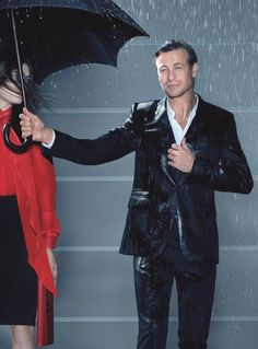 """Raining time for the Givenchy """"Gentlemen Only"""" fragrance with the australian actor Simon Baker."""
